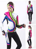 Women's Cycling Bike Long Sleeve Clothing Bicycle Sports Wear Set Jersey Pants