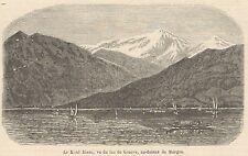 C8180 Suisse - Lac de Genève - Mont-Blanc - Stampa antica - 1892 Engraving