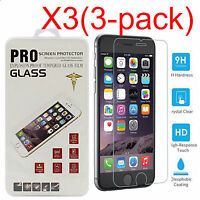 3PCS Tempered Glass Screen Film Protector For IPhone X 6 6S 7 8 8 Plus SE 5S 5C
