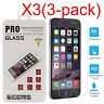 3PCS Tempered Glass Screen Film Protector For Apple IPhone 6 6S 7 7 Plus SE 5S