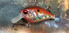 CUSTOM PAINTED LUCKYCRAFT  RC.1.5  CRANKBAIT HOT RED HOLOGRAPHIC FISHING LURE