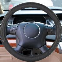 CAR STEERING WHEEL COVER PROTECTOR UNIVERSAL BLACK PERFORATED PU LEATHER T