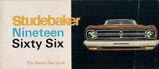 Studebaker 1966 USA Market Small Format Brochure Cruiser Commander Daytona