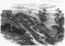 INDIA. Back of Ross Island, Port Blair, antique print, 1872