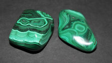 2 MEDIUM Malachite Tumbled Stone (Crystal Healing Reiki Gemstone Metaphysical)