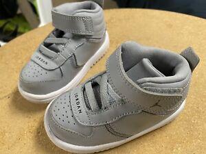 Nike Jordan Flight Toddler 5C Pre-owned Shoes Grey BARELY-Worn