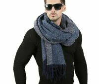 Winter Wool Knitted Scarf Outdoor Warmers Cashmere Neckerchief Blanket Foulards