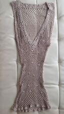 hand-knitted stretchy fish net cover up/top sz S