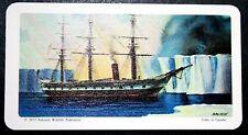 HMS Challenger Oceanographic Survey Covette        Illustrated Card  VGC