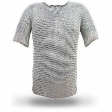 ALUMINIUM CHAINMAIL SHIRT BUTTED LARGE SIZE HAUBERGEON