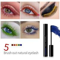 5 Color Mascara Waterproof Long Lasting Curling Lengthening Green Blue I2F2