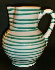 Gmundner Keramik imposanter Krug Wiener Form grün geflammt