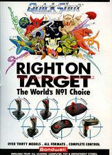 "Quickshot ""Right On Target"" Joysticks 1992 Magazine Advert #5669"