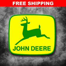 "Large 10"" John Deere Tractor Implement Cart Gator Logo Yellow/Green Decal"