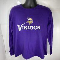 NFL Team Apparel Minnesota Vikings #52 Regster XL Long Sleeve T-Shirt Purple