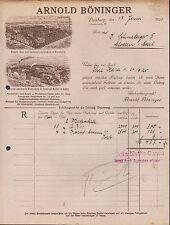 DUISBURG, Rechnung 1920, Rauch-, Kau- u. Schnupf-Tabak-Fabrik Arnold Böninger