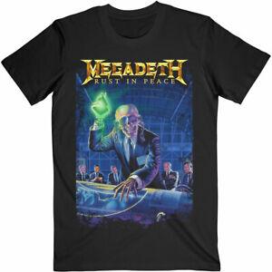 Official Megadeth T Shirt Rust in Peace 30th Anniversary Mens Rock Metal Black