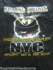 Rolling Stones Shirt - Madison Square Garden Show in 2003 - Xxl Unworn Original