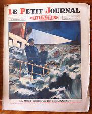 Le petit Journal 13/11/1927; La mort héroïque du commandant/ Noce à la police