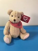"""New 1995 Jointed Plush 9"""" Fossil Watch Teddy Bear by Gund Vintage with TAGS!"""