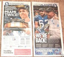 RARE INDIANAPOLIS COLTS 2009 AFC CHAMPIONSHIP GAME NEWSPAPER - COLTS 30 JETS 17