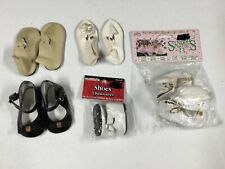 5 Pair Various Vintage Baby Doll Shoes ~ Syndee's Crafts, Fibre Craft, Tallinas