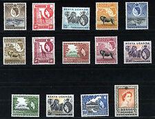 KENYA UGANDA TANGANYIKA 1954-59 DEFINITIVES SG167/180 MNH