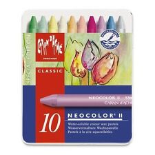 CARAN D'ACHE NEOCOLOR II TIN of 10 water soluble wax pastels - Spring Special Ed