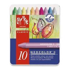 Caran d'ache neocolor ii boîte de 10 soluble dans l'eau cire pastels-printemps special ed