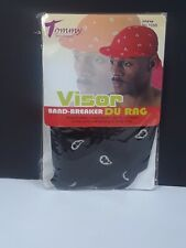 Tommy Series Du-Rag Cap With Visor - Black 1058