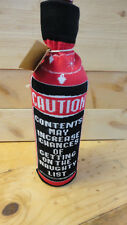 """Christmas Bottle Sock Gift Pouch """" Caution Contents Get You On Naughty List """""""