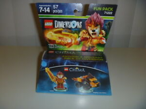 LEGO DIMENSIONS The Movie Fun Pack Legends of Chima Laval 71222 Lion Rider 57pcs