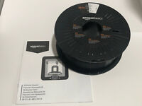 AmazonBasics PLA 3D Printer Filament Black 1KG Spool 1.75mm Printing - Preowned