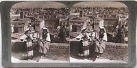 Panorama Da Roma Con Deux Femmes Primo Piano Italia Foto Stereo Vintage