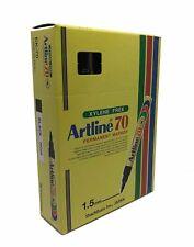 12 pcs Artline 70 High Performance Black Permanent Marker Pen 1.5mm Bullet Nib