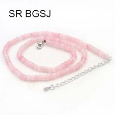 Fashion Jewelry Faceted Rondelle Jade Beads 2x4mm Adjustable Chain Necklace