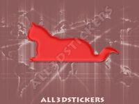 Pegatina Gato 3D Relieve - Color Rojo