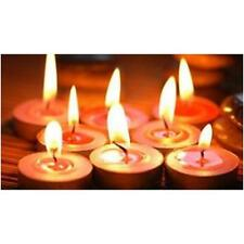 Candele profumate set 8 paraffina stoppino tea-light candels lumini viola Rotex