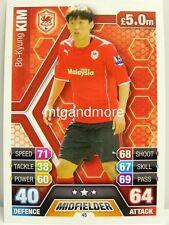 Match Attax 2013/14 Premier League - #045 Bo-Kyung Kim - Cardiff City
