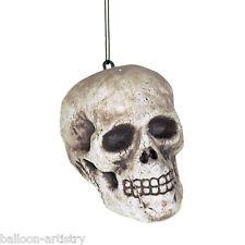 2 Halloween Horror Hanging Human Skulls Party Decorations