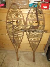 """Antique 19th Century Snowshoes matching set great for cabin decor  42 1/2"""" long"""