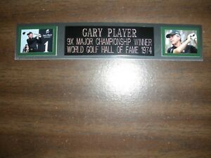 GARY PLAYER (GOLF) NAMEPLATE FOR AUTOGRAPHED BALL DISPLAY/FLAG/PHOTO