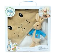Peter Rabbit Soft Toy &  Cuddle Robe Gift Set New Baby Gift Idea