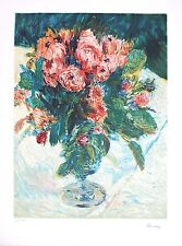 Pierre Auguste Renoir Lithograph Hand Numbered Limited Edition Still Life Roses