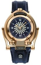 GV2 by Gevril 3406 Triton Men's Automatic Limited Edition Calfskin Leather Watch
