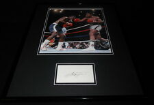 Smokin Joe Frazier Signed Framed 16x20 Photo Poster Display JSA vs Ali