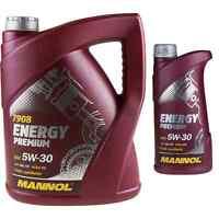 6 Liter Original MANNOL Energy Premium 5W-30 API SN/CF Motoröl Engine Oil Öl