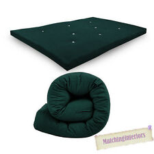 Green Budget Double Futon Sofabed Replacement Roll Up Folding Sleeping Mattress
