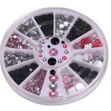 GD 3d Nail Art Tips Gems Crystal Glitter Rhinestone DIY Decoration Wheel GD