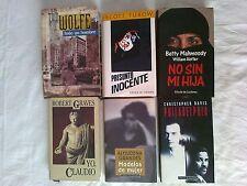 LOTE 6 LIBROS PHILADELPHIA,MODELOS DE MUJER,NO SIN MI HIJA,YO CLAUDIO-TAPA DURA